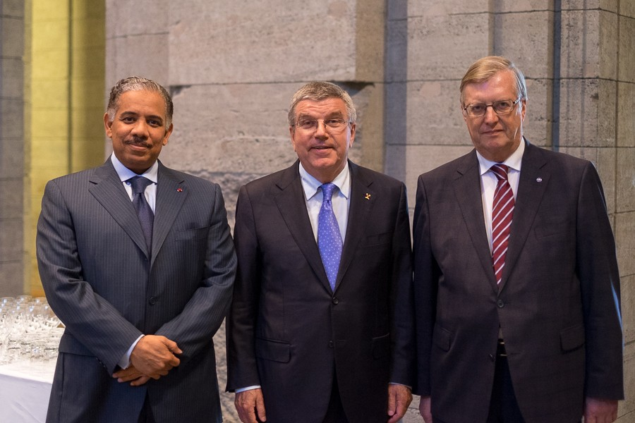 Abdulrahman Al-Khulaifi, Thomas Bach und Hans Reckers