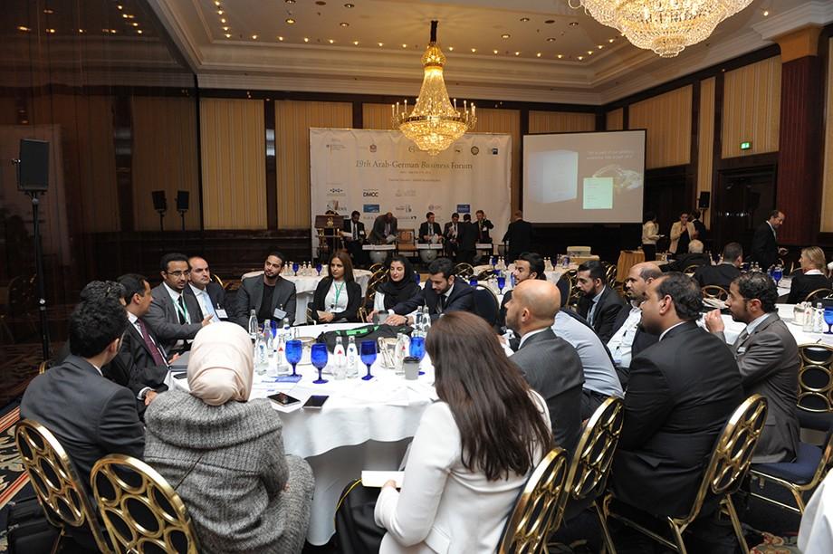 Teilnehmer des 19. Ghorfa Wirtschaftsforum diskutieren