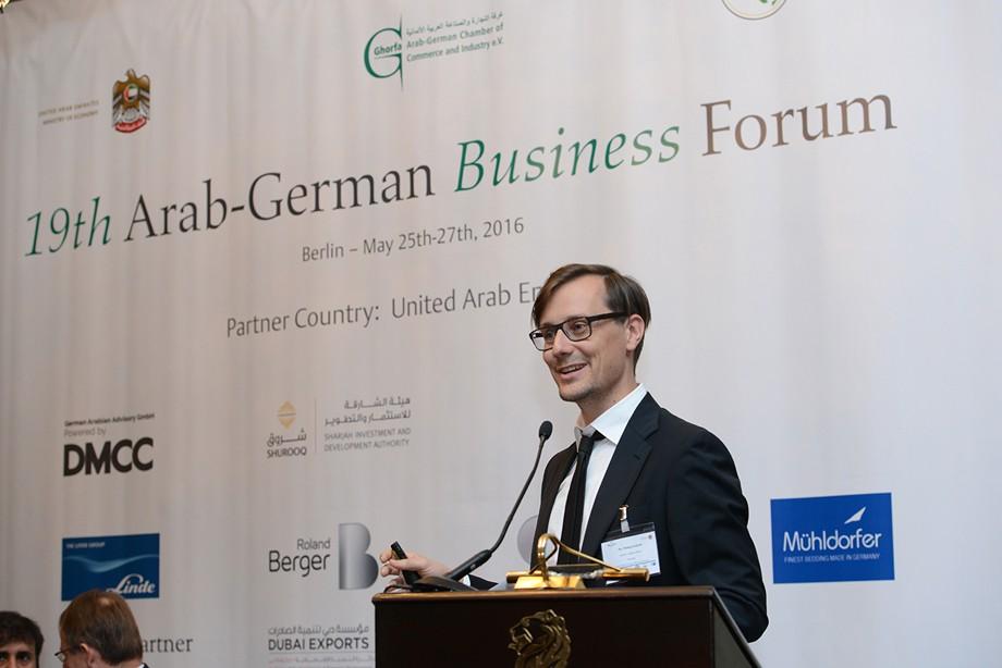 Philipp Eckhoff auf dem 19. Ghorfa Wirtschaftsforum 2016